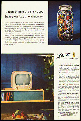 1953 vintage ad for Zenith Television  -020212