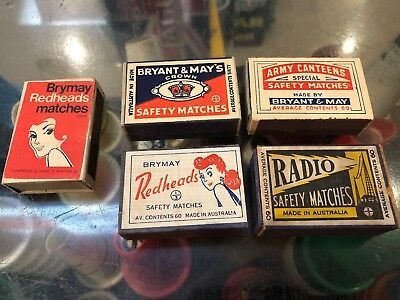 Matchboxes X 5 Aussie Bryant & May