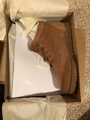 dbabd9ce7 UGG Australia Bethany Chestnut Suede Leather Lace Up Chukka Ankle Boot Size  11
