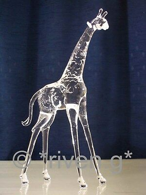 GIRAFFE CRYSTAL Glass BEAST@UNIQUE Collectable Gift@Wild Jungle Animal FIGURINE