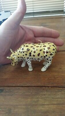 197a21c95aa Cow Parade Christmas Ornament Leopard Cow Ornament With Box The Encore Group