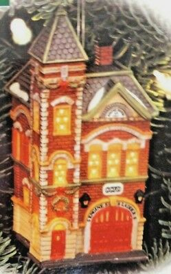 "Dept 56 ""Red Brick Fire Station"" Ornament #98758 Christmas in the City"