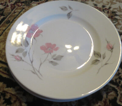 Edwin Knowles Dawn Rose dinner plate designed by Kalla Lot of 4