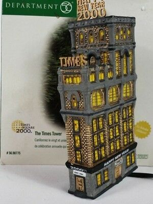 "Dept 56 ""The Times Tower"" Ornament #98775 Christmas in the City"