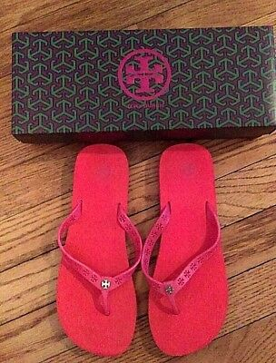 e2580d1f3 Tory Burch Pre-Owned Pink Orange Miranda Flip Flop Size 7 with Box