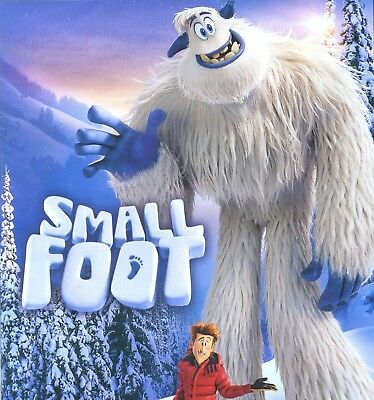 Smallfoot 2018 PG animated musical comedy-adventure movie, new DVD, small foot