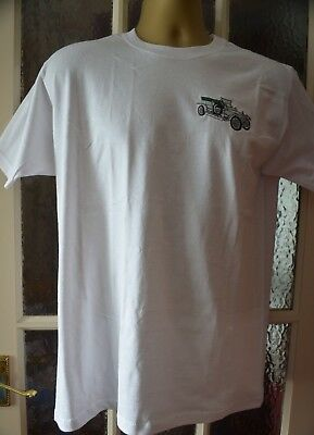 Rolls Royce Silver Ghost T/shirt Embroidered On Fruit Of Loom 100% Cotton Heavy