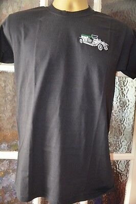 Rolls Royce  T/shirt Silver Ghost Embroidered On Fruit Of Loom  Cotton Heavy