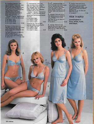 Pretty Ladies in Spicy Undies Vintage Catalog Lingerie Photo Clippings