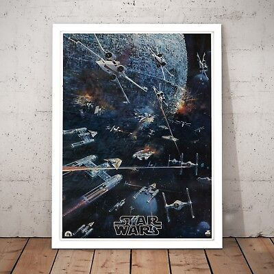 Star Wars Vintage Movie Poster Unique Gift Art Poster Print A3 A2 A1 A0 Framed