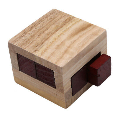 Wooden Kongming Luban Lock Kid Educational Toy Adult Brain Teaser Puzzle Game HO