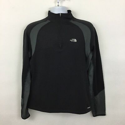 The North Face pullover athletic jacket Mens Medium black gray fitted running