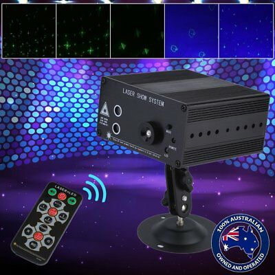 48 Pattern Laser Projector Stage Lights Mini LED RGB Lighting Party DJ Disco F2
