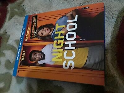 Night School  Extended Cut (Blu-ray + DVD ) with SLIP COVER --NO Digital