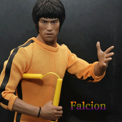 Custom 1/6 Scale Bruce Lee Chef Sculpt Toys Figure Body For 12inch Action Figure