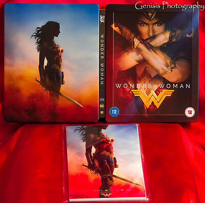 Wonder Woman (Blu-Ray 3d) Hmv Edizione Limitata Steelbook + Marvel Art Figurine