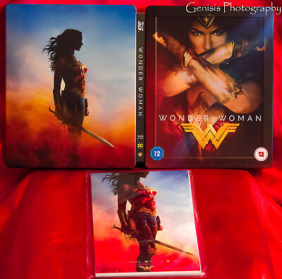 Wonder Woman(bluray 3d) HMV Limited Edition Steelbook + Marvel Art Cards