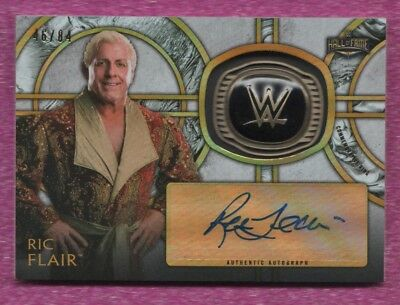 2018 Legends Of The Wwe Ric Flair Autograph Hall Of Fame Ring Serial #'d 46/84