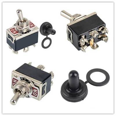 6 Pin 3 Position ON-OFF-ON DPDT Mini Latching Toggle Switch AC 250V/15A Switches