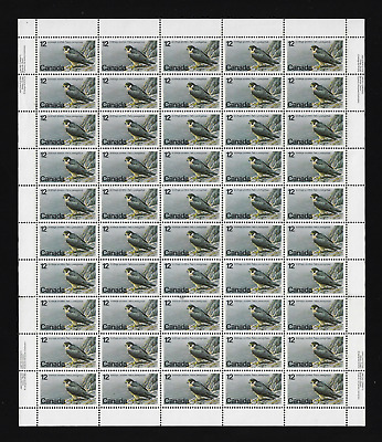 Canada Stamps — Full Pane of 50  — 1978, Endangered Wildlife, Falcon #752 — MNH