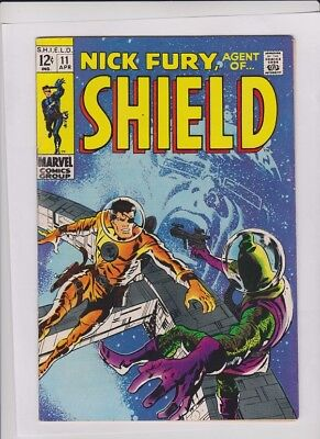 NICK FURY #11 F/VF, Agent Of SHIELD, Marvel 1968, solid low cost comic