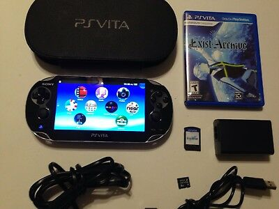 Playstation Vita PCH-1001  PS Vita Console with 8 GB Memory Card Case And Game