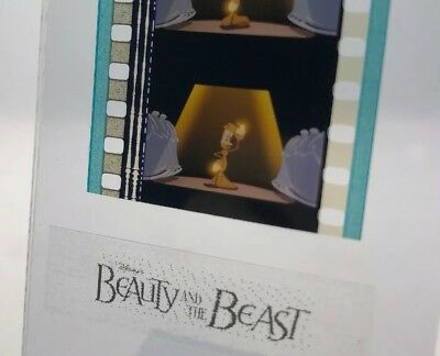 Disney Animation Authentic Film 5-Cell Strip BEAUTY & THE BEAST Lumiere
