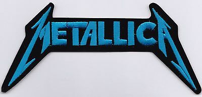 METALLICA - BLUE DIE CUT LOGO - IRON or SEW ON PATCH