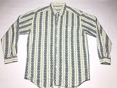 Vintage Men's Size M Guess by Georges Marciano Long Sleeve Shirt Native 90's Euc