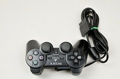 Official OEM Sony Playstation Dual Shock Controller Black SCPH-10010  PS1 & 2