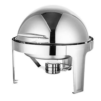 Soga 6L Stainless Steel Round Roll Top Buffet Chafer Dish