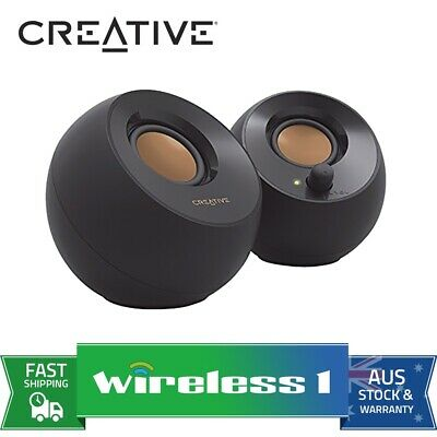 Brand New Creative Pebble 2.0 USB Speakers - Black