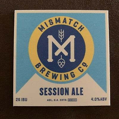 Plastic Mismatch Brewing Co Session Ale Beer Tap Badge, Top, Decal