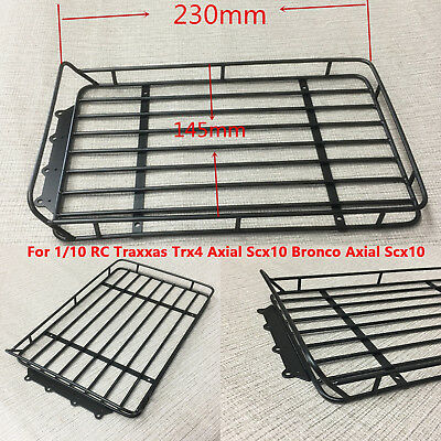 Metal Roof Rack Carrier 230*145*30mm for 1/10 Traxxas Trx4 Bronco Axial Scx10 RC