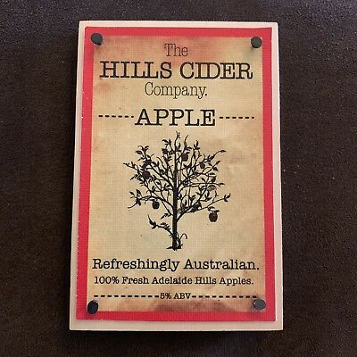 The Hills Cider Company Beer Tap Badge, Top, Decal