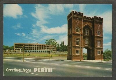 e2320) POSTCARD OF THE ARCH ON ST GEORGES TCE IN PERTH WESTERN AUSTRALIA