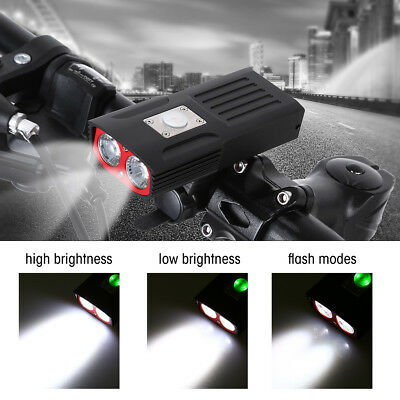 Super Bright Mountain Bike Front Light T6 LED USB Rechargeable Head Lamp Cycling