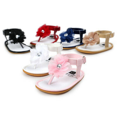 6Colors Chiffon Flowers Baby Sandals Girl Infant Toddler Shoes 11-13cm