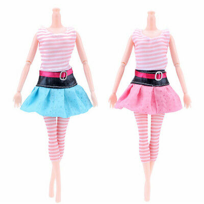 1 Set Handmade Fashion Clothes Dress For  Doll Gift Color Rando JF