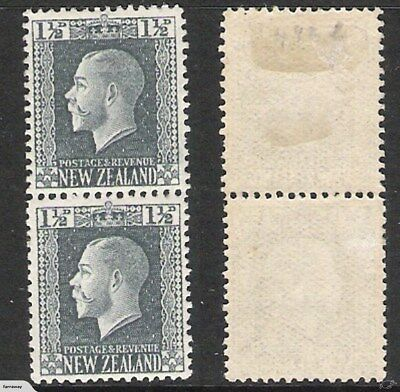 NEW ZEALAND 1916 KGV RECESS 1.5d TWO PERF PAIR (HM/UHM) CP K1c;