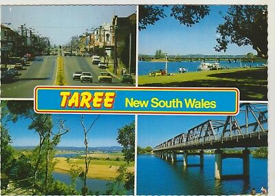Multiscene Taree Nsw Nucolorvue Postcard