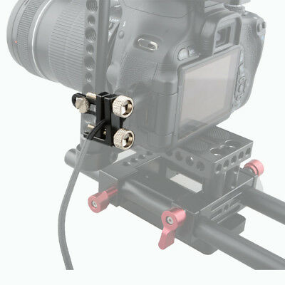 """CAMVATE HDMI Cable Clamp 1/4""""-20 Thread Mount Rig For Universal DSLR Camera Cage"""