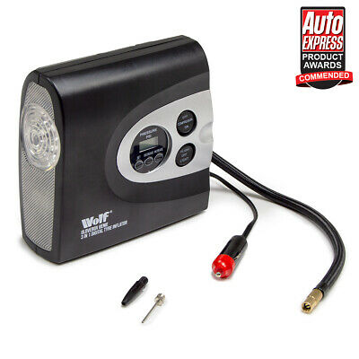 12V Car Tyre Inflator Digital Automatic Air Compressor Portable Pump Wolf