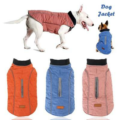 Dog Jacket Rain Coat Warm Clothes Suit Jumper Vest Pet Puppy Small Large XS