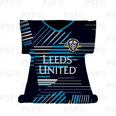 Leeds United FC Official Personalised Away Kit 2019 Shirt Shape Cushion LSSC001