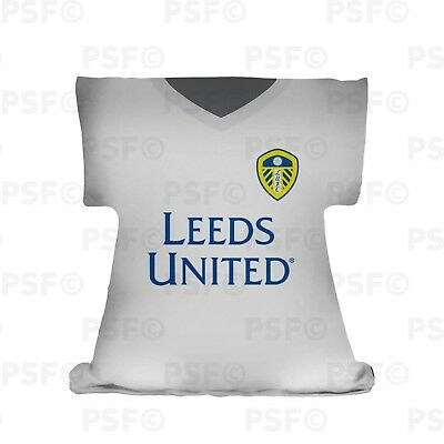 Leeds United FC Official Personalised Home Kit 2019 Shirt Shape Cushion LSSC002