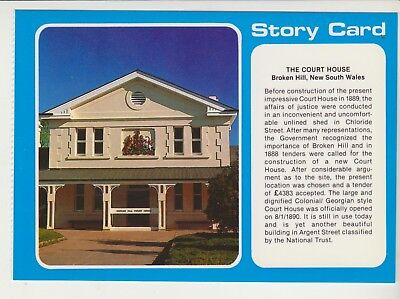 Story Card Court House Broken Hill Nsw Nucolorvue Postcard