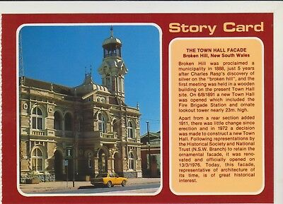 Story Card Town Hall Broken Hill Nsw Nucolorvue Postcard