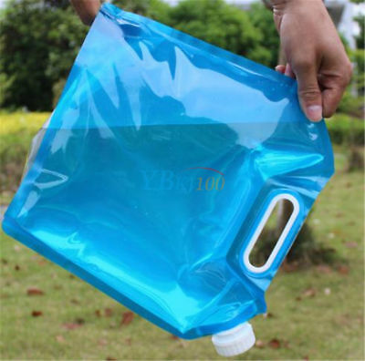 5L PE Free Collapsible Camping Emergency Water Storage Container Carrier Bag SP