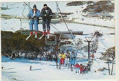 Triple Chairlift Perisher Valley Snowy Mountains Nsw Nucolorvue Postcard